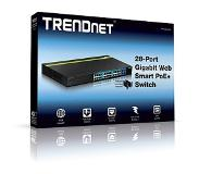 Trendnet TPE-2840WS Beheerde netwerkswitch Gigabit Ethernet (10/100/1000) Power over Ethernet (PoE) 1U Zwart netwerk-switch