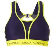 Shock absorber sportbh Ultimate Run Bra Padded blauw/geel Blauw/geel E 70