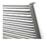 Vasco designradiator IRIS HDM, staal, traffic White, (hxlxd) 1338x750x34mm