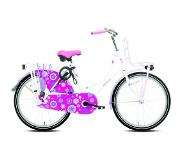Troy Redy Highlander - Omafiets - 20 Inch - Paars/Wit
