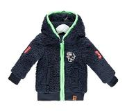 B. Nosy B-Nosy Mannen jacks B-Nosy baby boys fur hooded jacket blauw 68