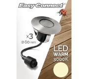 Easy Connect 3 Medium inbouwspots ÔøΩ 6 cm LED 1.2 W warmwit 3000K
