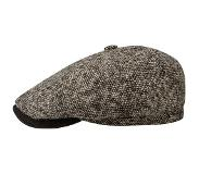Hatland Stetson 6-Panel Brooklin Flat Cap Virgin Wool Goat Donkerbeige-55