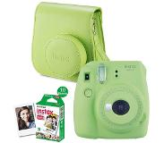 Fujifilm Instax Mini 9 Instant Camera Lime Green + enkelpak film (10 foto's) + case