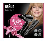Braun Satin hair 1 Zwart 1200 W
