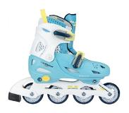 4488e8b1cb0 Nijdam Inline Skates Nijdam Boys Verstelbaar Sunny Blue White  Yellow-Schoenmaat 27 - 30