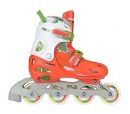 Nijdam Inline Skates Nijdam Girls Verstelbaar Jungle Peach Green White