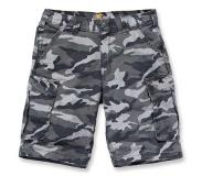 Carhartt Werkshorts Carhartt Men Rugged Cargo Camo Short Rugged Gray Camo-Maat 34