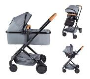 X-adventure Icon Shade Grijs Combi Kinderwagen (incl. autostoel)