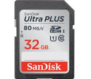 SanDisk Ultra Plus SDHC / SDXC 32 GB 80 MB/s