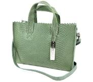 Myomy MY PAPER BAG MINI HANDBAG CROSS-BODY - ANACONDA SEA GREEN