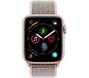 Apple Watch Series 4 44mm Goud Aluminium/Roze Nylon Sportband