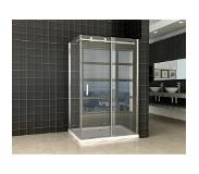 Wiesbaden Block Shower douchecabine 120x90x200cm chroom 8mm dik NANO coating glas 20.3851