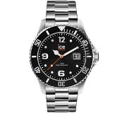 Ice-watch IW016031 ICE Steel Black silver Medium 40 mm horloge