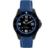 Ice-watch IW015783 ICE Steel Black blue Large 44 mm horloge