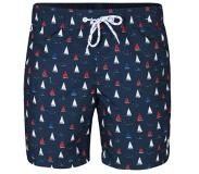 We fashion zwemshort in all over print marine Marine/wit/rood XXL
