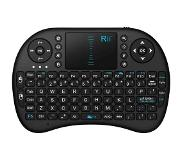 Rii Mini Wireless Keyboard i8 RF Draadloos QWERTY Engels Zwart toetsenbord