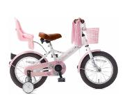 POPAL Little Miss 14 inch meisjesfiets Wit