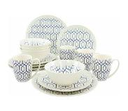 Guido Maria Kretschmer Home & Living Guido Maria Kretschmer Home&Living combi-servies 'BLUE STYLE' (16-delig)