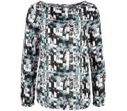 Q/S designed by top met allover print Blauw 36
