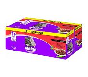 Whiskas Multipack Pouch - Adult - Vlees Selectie Saus - 40 x 100 g