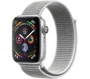 Apple Watch Series 4 44mm Zilver Aluminium/Grijze Nylon Sportband