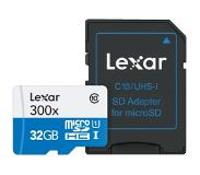 Lexar microSDHC High-Perf. incl. adapter UHS-I 300x 32GB