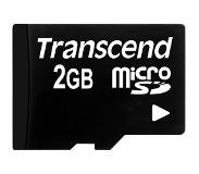 Transcend 2GB micro SD (with adapter)