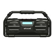 Artsound U6, oplaadbare digitale all-round radio, zwart
