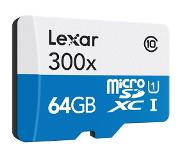 Lexar 2.0 microSDHC High-Performance UHS-I 300x 64GB