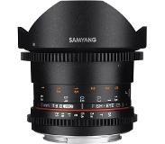 "Samyang 8mm T3.8 VDSLR UMC Fish-eye CS II, Sony A SLR Groothoeklens type ""fish eye"" Zwart"