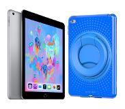 Apple iPad (2018) 32 GB Wifi + Evo Play2 Back Cover Blauw