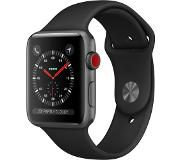 Apple Watch Series 3 GPS Cell 42mm grijs alu zwarte band