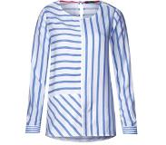 Cecil Strepenmix blouse Blauw/wit S