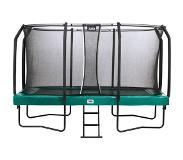 Salta Trampoline Salta First Class Rectangular Groen 244 x 427 cm + Safety Net