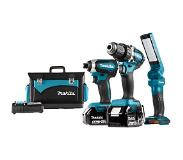 Makita accumachine set dlx3090TX1 18v 3xli5a