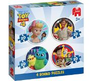 Jumbo Disney ToyStory 4 - 4in1 Ronde Puzzels