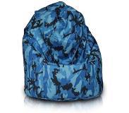 Zitzak Kleur Blauw.Bomba Relax Zitzak Camouflage Blauw Zitzak Zitzak