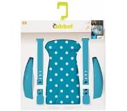 Qibbel stylingset voor achterzitje Polka Dot blauw Q338