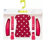 Qibbel stylingset voor achterzitje Polka Dot rood Q339