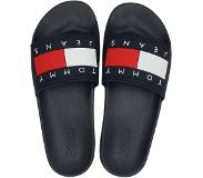 Tommy Jeans Jeans Flag Pool slid badslippers blauw