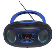 Denver TCL-212BT BLUE cd-speler Portable CD player Zwart, Blauw