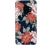 Smartphonehoesjes.nl Passion Backcover Samsung Galaxy S9 hoesje - Bloemen Donkerblauw