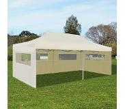 VidaXL Partytent pop-up inklapbaar 3x6 m crème