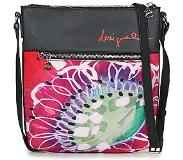 Desigual POPPY FLOWER Schoudertas dames Zwart One size
