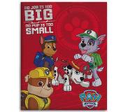 Paw Patrol No pup too small - Fleeceplaid - 110 x 140 cm - Rood