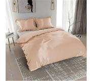 Nightlife Silk Dekbedovertrek Satin Uni Taupe