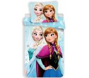 Disney Frozen Light Blue - Dekbedovertrek - 140 x 200 cm - Multi