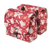 Basil Dubbele fietstas Magnolia S Double bag 25L Poppy red