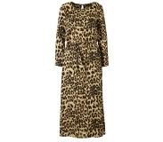 Only jurk met all over panter print Beige/Zwart/Bruin